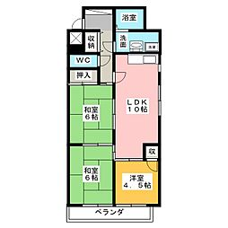 ステーションビルASATOKU[6階]の間取り