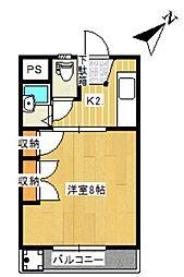 常盤ハイツA K[A302号室]の間取り