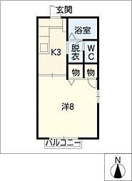 デルソル岩崎[1階]の間取り