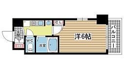 兵庫県神戸市中央区古湊通1丁目の賃貸マンションの間取り