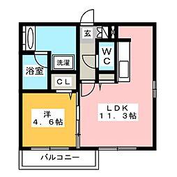 グローリアM・K[2階]の間取り