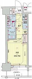 名鉄名古屋本線 名鉄名古屋駅 徒歩7分の賃貸マンション 2階1Kの間取り