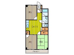 パールマンションII[4階]の間取り