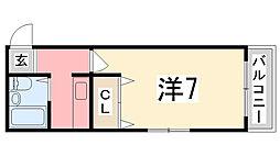 シエスタ姫路[201号室]の間取り