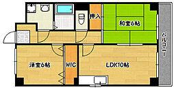 兵庫県神戸市兵庫区上沢通6丁目の賃貸マンションの間取り