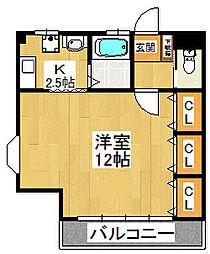 田尻アパート[3階号室]の間取り