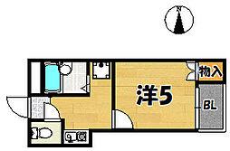 木村マンション[102号室]の間取り