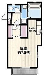 神奈川県鎌倉市津西1丁目の賃貸アパートの間取り
