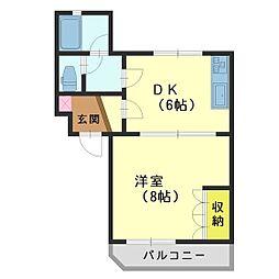 ク・レイン千代田[105号室]の間取り