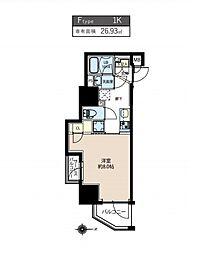 都営浅草線 浅草橋駅 徒歩11分の賃貸マンション 3階1Kの間取り