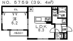 ARCASA KISHINOSATO I[1階]の間取り