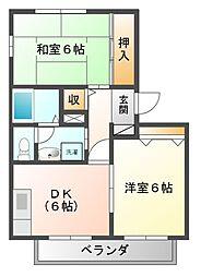 ハイツK-II[1階]の間取り