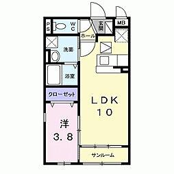 兵庫県尼崎市武庫之荘6丁目の賃貸アパートの間取り