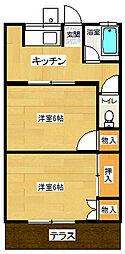川端荘[202号室]の間取り