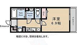 JR中央線 三鷹駅 徒歩17分の賃貸マンション 1階1Kの間取り