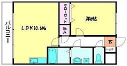 グランドアマレイⅦ番館[3階]の間取り