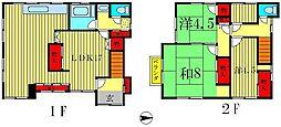 [一戸建] 千葉県松戸市西馬橋3丁目 の賃貸【/】の間取り