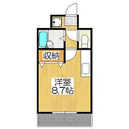 カワモトマンション[303号室]の間取り