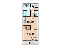 京都府京都市山科区大塚中溝の賃貸マンションの間取り