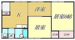 丸山マンション[2階]の間取り