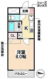愛知県名古屋市南区呼続2丁目の賃貸マンションの間取り
