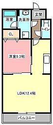 カーサパルーデII[2階]の間取り