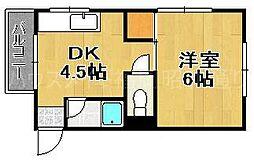 福岡県福岡市中央区唐人町1の賃貸マンションの間取り