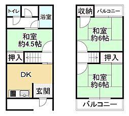 片町線 野崎駅 徒歩16分
