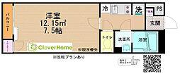 JR横浜線 町田駅 バス13分 ひなた村下車 徒歩5分の賃貸アパート 2階1Kの間取り