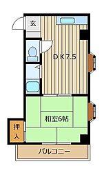 埼玉県富士見市鶴馬3丁目の賃貸マンションの間取り