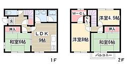 [テラスハウス] 愛知県名古屋市名東区藤森1丁目 の賃貸【/】の間取り