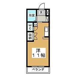 ロイヤルハイツ東八[1階]の間取り