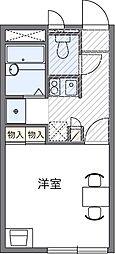 埼玉県さいたま市見沼区堀崎町の賃貸アパートの間取り