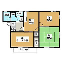 グリムハウスB棟[1階]の間取り