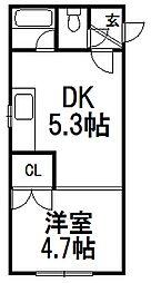 北海道札幌市白石区東札幌五条6の賃貸マンションの間取り