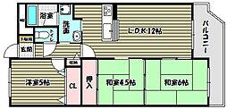 シティパーク北野田[10階]の間取り