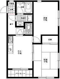 コーポユーカリ[3階]の間取り