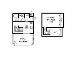 ウエストキャピタル梅田[8階]の間取り