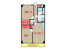 千葉県船橋市新高根3丁目の賃貸マンションの間取り