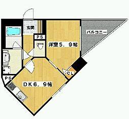 クリスタルグランツ西大路三条[3階]の間取り