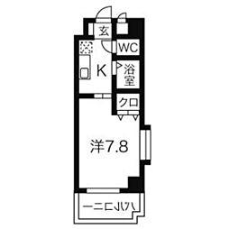 びい6植田[6階]の間取り