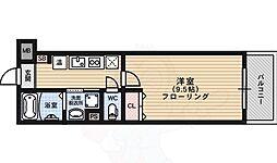 京都市営烏丸線 鞍馬口駅 徒歩4分の賃貸マンション 1階1Kの間取り