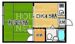 ハタハウス[6号室号室]の間取り