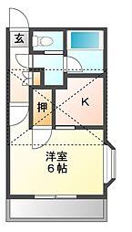 リベラルII[2階]の間取り