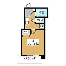 プレサンス京都御所西[6階]の間取り