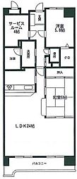 ロイヤルパレス博多[6階]の間取り