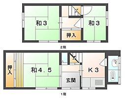 [一戸建] 大阪府守口市松下町 の賃貸【/】の間取り