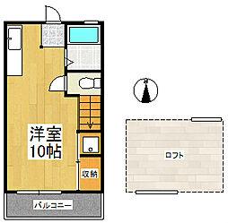 シティベール高良内 B棟[1階]の間取り