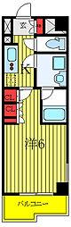 ルーブル西高島平 3階1Kの間取り
