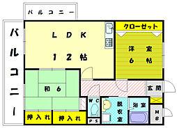 T・MORI[3階]の間取り